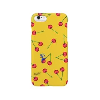 Fruit series!! -cherry- yellow Smartphone cases