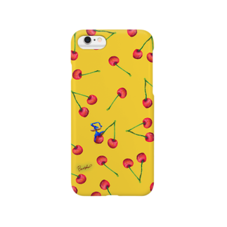 BenizakeのFruit series!! -cherry- yellow Smartphone cases