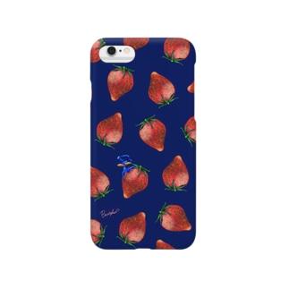 Fruit series!! -strawberry- navy スマートフォンケース