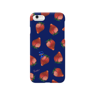 BenizakeのFruit series!! -strawberry- navy Smartphone cases