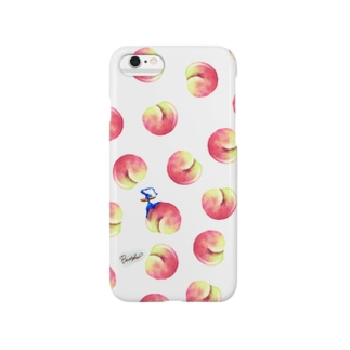 Fruit series!! -peach-white Smartphone cases
