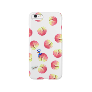 BenizakeのFruit series!! -peach-white Smartphone cases