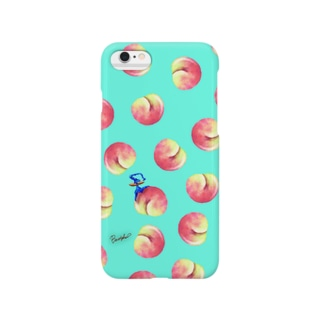 Fruit series!! -peach- light blue Smartphone cases