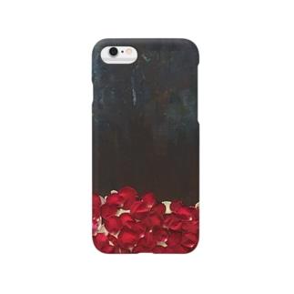 バラ色iPhoneケース Smartphone cases