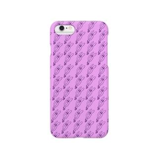 うさぎ小紋仮 Smartphone cases