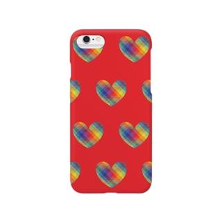 虹×ハート×虹(レッド) Smartphone Case
