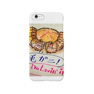 オホーツク産の毛ガニ Smartphone cases