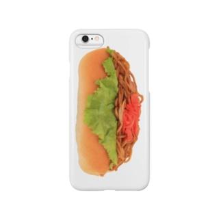 ヤキソバパン・タテ! Smartphone cases