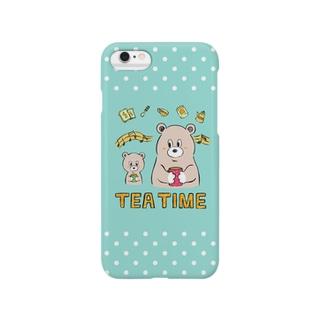 おやこベアーのTEA TIME Smartphone cases