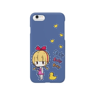 BABY BABY BABY【ブルー】 Smartphone cases