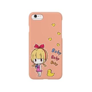 BABY BABY BABY【ピンク】 スマートフォンケース