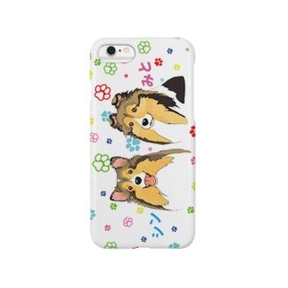 シンちゃんみとちゃんのiPhoneケース Smartphone cases