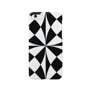 ブラック×ホワイト Smartphone Case