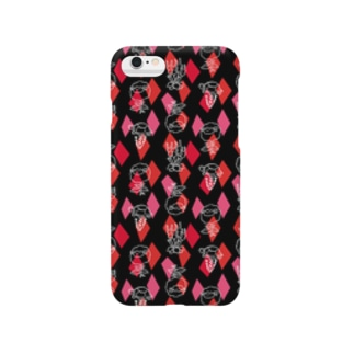 【メリのすけフレンズ】(黒・赤) Smartphone cases