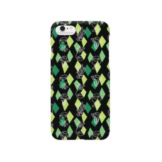 【メリのすけフレンズ】(黒・緑) Smartphone cases