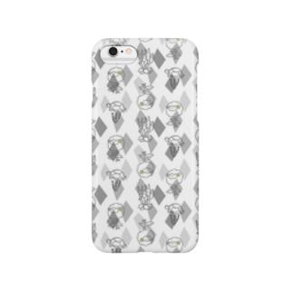 【メリのすけフレンズ】(モノトーン) Smartphone cases