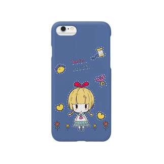 Let's Sawing【ブルー】 Smartphone cases