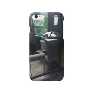 公衆電話にゃんこ Smartphone cases