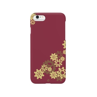 真鍮歯車:臙脂 Smartphone cases