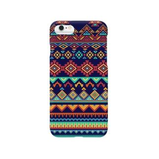 オルテガ柄F Smartphone cases