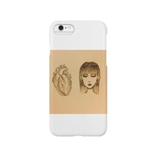 心臓と人間女 Smartphone cases