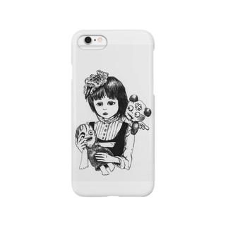 呪いの人形と少女 Smartphone cases