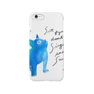 青いねこ スマートフォンケース