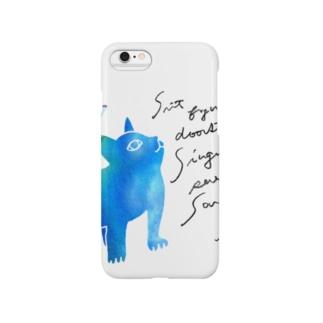 青いねこ Smartphone cases