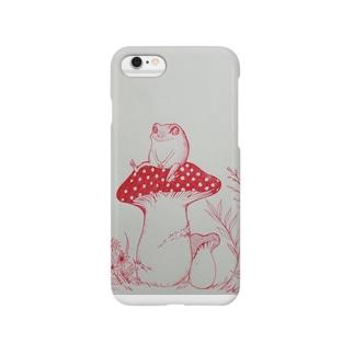 カエルとキノコ Smartphone cases