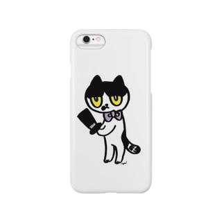 怪しい猫 Smartphone cases