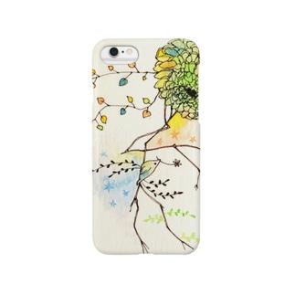 花と小鳥 Smartphone cases