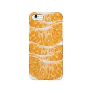 みかんがいっぱい!面白おかしい果物グッズ Smartphone cases
