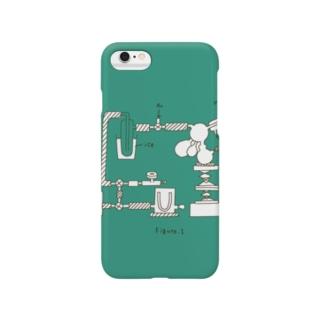 化学実験(グリーン Smartphone cases