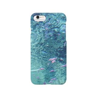 ピンクパープル熱帯魚 Smartphone cases