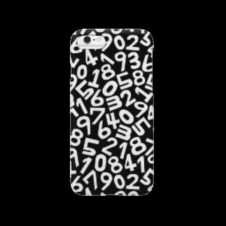 TURBO SHOPのモノクロ数字パターンスマートフォンケース