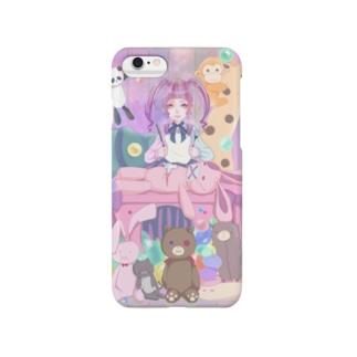 ❀ぬいぐるみと病み少女❀ Smartphone cases