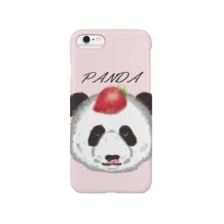 食いしん坊リアルパンダ苺 Smartphone cases