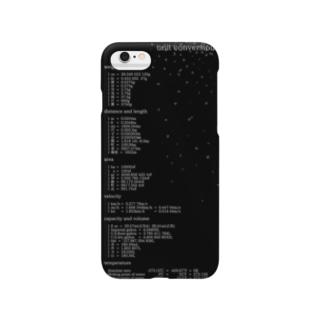 単位変換iPhoneケース(black) Smartphone cases
