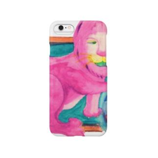 ピンクのライオン Smartphone cases