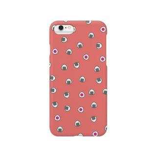 おむすびころころ(ピンク)スマートフォンケース Smartphone cases