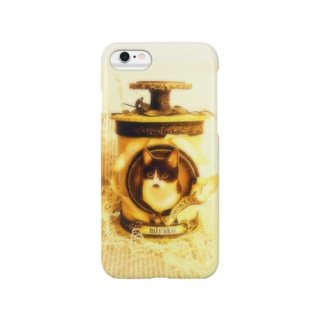 SMOKY CATのミヤコちゃんの香水瓶オブジェデザイングッズ Smartphone cases