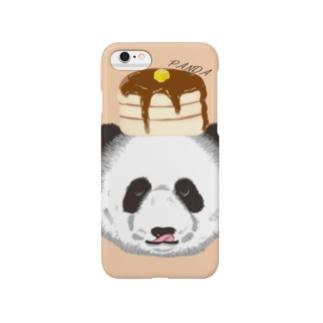 食いしん坊リアルパンダホットケーキ Smartphone cases