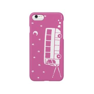 夜行バス出かけましょう(シルエット・ピンク) Smartphone Case