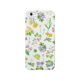 春の野花柄 iPhoneケース Smartphone cases
