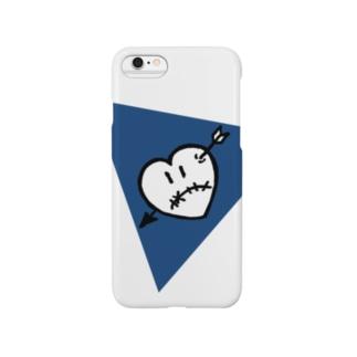 ハートアローくん ブルー Smartphone cases