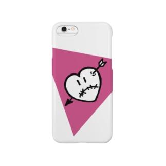 ハートアローくん ピンク Smartphone cases