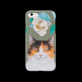 おちょぴの椿と三毛猫 Smartphone cases