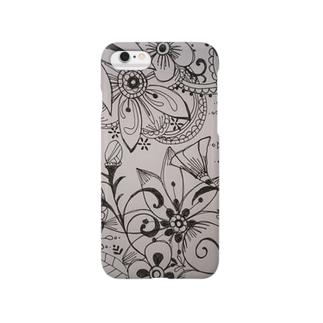 モノクロflower Smartphone cases