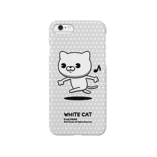 にゃんこMAX(白猫) Smartphone cases