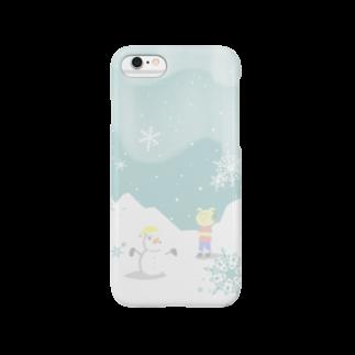 片陸遼助のピグマと雪だるま スマートフォンケース